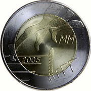 Finland 5 Euro Helsinki Athletic Championship 2005 M K-M KM# 118 2005 MM coin obverse