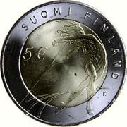 Finland 5 Euro Helsinki Athletic Championship 2005 M K-M KM# 118 SUOMI FINLAND 5 € K coin reverse