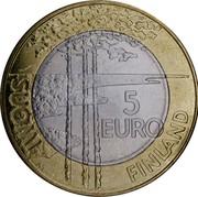 Finland 5 Euro Ice Hockey 2003 M M-M KM# 111 SUOMI FINLAND 5 EURO M coin reverse