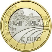 Finland 5 Euro Ice Hockey 2016 Proof KM# 243 SUOMI FINLAND 2016 T 5 EURO coin obverse