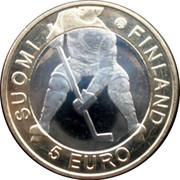 Finland 5 Euro Ice Hockey World Championship 2012 N KM# 183 SUOMI FINLAND 5 EURO coin obverse