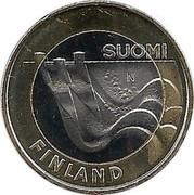 Finland 5 Euro Imatra Dam 2013 KM# 195 SUOMI N FINLAND coin obverse