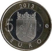 Finland 5 Euro Imatra Dam 2013 KM# 195 2013 5 T EURO coin reverse