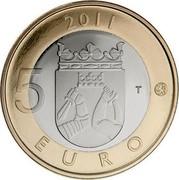 Finland 5 Euro Karelia 2011 T Proof KM# 159 2011 5 EURO T coin reverse