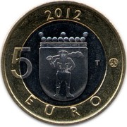 Finland 5 Euro Lapland 2012 T KM# 192 2012 5 EURO T coin reverse