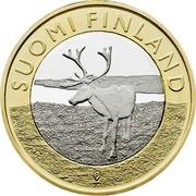 Finland 5 Euro Lapland 2015 Proof KM# 224 SUOMI FINLAND coin obverse