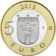 Finland 5 Euro Lapland 2015 Proof KM# 224 2015 5 EURO T coin reverse