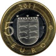 Finland 5 Euro Ostrobothnia 2011 T KM# 171 2011 5 EURO T coin reverse