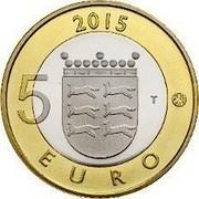 Finland 5 Euro Ostrobothnia 2015 Proof KM# 242 2015 5 EURO T coin reverse