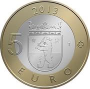 Finland 5 Euro Satakunta 2013 Proof KM# 198 2013 5 EURO T coin reverse