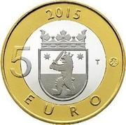 Finland 5 Euro Satakunta 2015 Proof KM# 240 2015 5 EURO T coin reverse