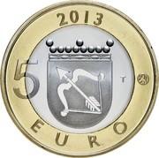 Finland 5 Euro Savonia 2013 Proof KM# 199 2013 5 T EURO coin reverse