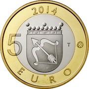 Finland 5 Euro Savonia 2014 Proof KM# 208 2014 5 EURO T coin reverse