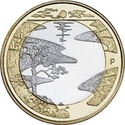 Finland 5 Euro Summer 2013 Proof KM# 196 P coin reverse