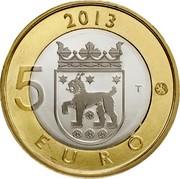 Finland 5 Euro Tavastia 2013 KM# 197 2013 5 T EURO coin reverse