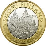 Finland 5 Euro Tavastia 2015 Proof KM# 241 SUOMI FINLAND coin obverse