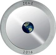 Latvia 5 Euro The Earth 2016 Proof KM# 178 ZEME 2016 coin reverse
