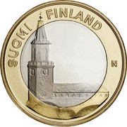 Finland 5 Euro Turku Cathedral 2013 Proof KM# 213 SUOMI FINLAND N coin obverse