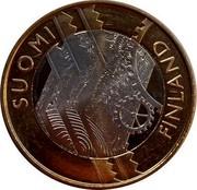 Finland 5 Euro Uusimaa 2011 T KM# 160 SUOMI FINLAND coin obverse