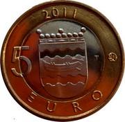Finland 5 Euro Uusimaa 2011 T KM# 160 2011 5 EURO T coin reverse