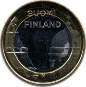 Finland 5 Euro Uusimaa 2012 T KM# 191 SUOMI FINLAND N coin obverse