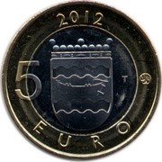 Finland 5 Euro Uusimaa 2012 T KM# 191 2012 5 EURO T coin reverse