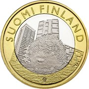 Finland 5 Euro Uusimaa 2015 Proof KM# 239 SUOMI FINLAND coin obverse