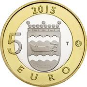Finland 5 Euro Uusimaa 2015 Proof KM# 239 2015 5 EURO T coin reverse