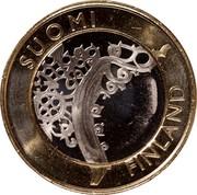 Finland 5 Euro Varsinais 2010 T KM# 158 SUOMI FINLAND coin obverse