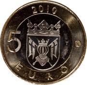 Finland 5 Euro Varsinais 2010 T KM# 158 2010 5 EURO T coin reverse