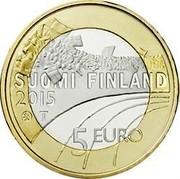 Finland 5 Euro Volleyball 2015 Proof KM# 234 SUOMI FINLAND 2015 T 5 EURO coin obverse