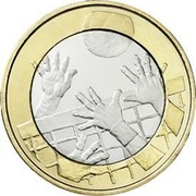 Finland 5 Euro Volleyball 2015 Proof KM# 234  coin reverse