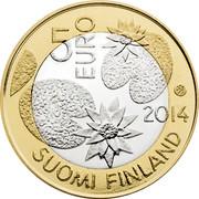 Finland 5 Euro Waters 2014 Proof KM# 206 5 EURO 2014 SUOMI FINLAND coin obverse