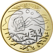 Finland 5 Euro Waters 2014 Proof KM# 206 P coin reverse