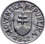 Slovakia 5 Halierov 1942 KM# 8 Republic (1939-1945) SLOVENSKÁ REPUBLIKA coin obverse