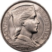 Latvia 5 Lati 1931 Proof KM# 9 First Republic (1918-1939) LATVIJAS REPUBLIKA coin obverse