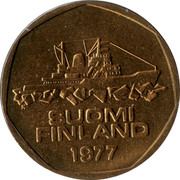 Finland 5 Markkaa 1977 K KM# 53 Reform Coinage SUOMI FINLAND DATE coin obverse
