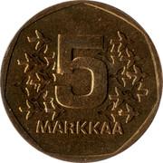 Finland 5 Markkaa 1977 K KM# 53 Reform Coinage 5 MARKKAA coin reverse