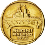 Finland 5 Markkaa 1983 N KM# 57 Reform Coinage SUOMI FINLAND DATE coin obverse