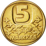Finland 5 Markkaa 1983 N KM# 57 Reform Coinage 5 MARKKAA coin reverse