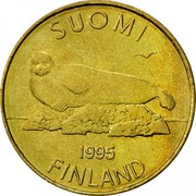 Finland 5 Markkaa 1995 M Proof KM# 73 Reform Coinage SUOMI DATE FINLAND coin obverse