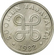 Finland 5 Pennia 1982 KM# 45a Reform Coinage SUOMEN TASAVALTA DATE coin obverse