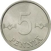 Finland 5 Pennia 1982 KM# 45a Reform Coinage 5 PENNIÄ coin reverse