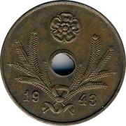 Finland 5 Pennia Hole center 1943 KM# 64.1 DATE coin obverse