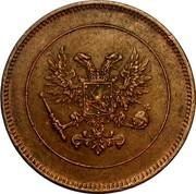 Finland 5 Pennia Nikolai II (Civil War Coinage) 1917 KM# 17 coin obverse