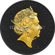 UK 5 Pounds (The Queens Beasts The Falcon of the Plantagenets) • ELIZABETH II • D • G • REG • F • D • 5 POUNDS • J.C coin obverse