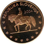 Slovenia 5¢ (Probe Trial) X# Pn3 REPUBLIKA SLOVENIJA 2004 coin obverse
