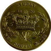 Australia 5 S. 5 Shillings (Restrike 2006) 1830 (2006) X# 3 SYDNEY 1830 5 S. NEW SOUTH WALES coin reverse