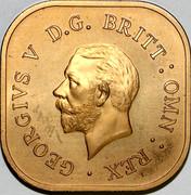 Australia 5 S Kangaroo 1921 Matte Proof GEORGIVS V D.G. BRITT:OMN:REX coin obverse