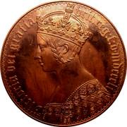 Australia 5 S. Restrike 1851 X# 4 VICTORIA DEI GRATIA BRIT.REG:F:D:MDCCCLI coin obverse